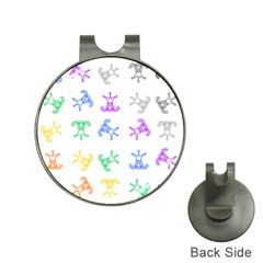 Rainbow Clown Pattern Hat Clips With Golf Markers