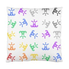 Rainbow Clown Pattern Standard Cushion Case (two Sides)