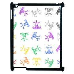 Rainbow Clown Pattern Apple Ipad 2 Case (black)