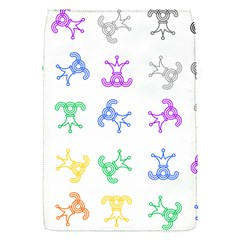 Rainbow Clown Pattern Flap Covers (s)  by Amaryn4rt
