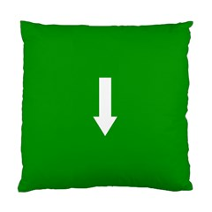 Arrow Green Standard Cushion Case (two Sides) by AnjaniArt