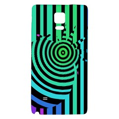 Art Of A Cat Popping A Balloon Galaxy Note 4 Back Case by AnjaniArt