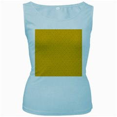 Yellow Flower Women s Baby Blue Tank Top