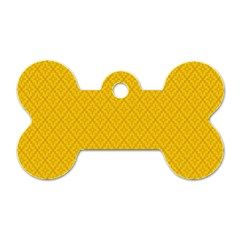 Yellow Flower Dog Tag Bone (two Sides)