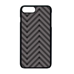 Background Gray Zig Zag Chevron Apple Iphone 7 Plus Seamless Case (black) by AnjaniArt