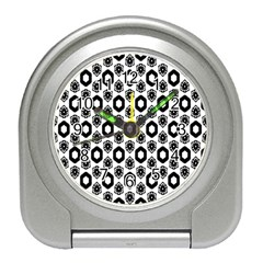 Background Pattern Travel Alarm Clocks