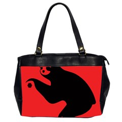 Animal Sloth Office Handbags (2 Sides)  by AnjaniArt