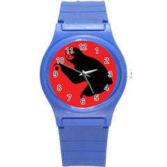 Animal Sloth Round Plastic Sport Watch (s) by AnjaniArt