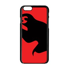 Animal Sloth Apple Iphone 6/6s Black Enamel Case by AnjaniArt