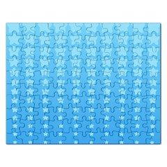 Blue Stars Background Rectangular Jigsaw Puzzl by AnjaniArt