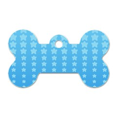 Blue Stars Background Dog Tag Bone (two Sides)