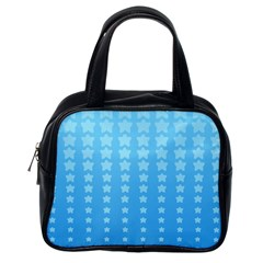 Blue Stars Background Classic Handbags (one Side) by AnjaniArt