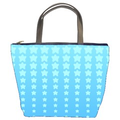 Blue Stars Background Bucket Bags