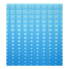 Blue Stars Background Shower Curtain 66  X 72  (large)  by AnjaniArt