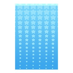 Blue Stars Background Shower Curtain 48  X 72  (small)  by AnjaniArt
