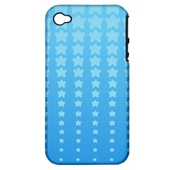 Blue Stars Background Apple Iphone 4/4s Hardshell Case (pc+silicone) by AnjaniArt