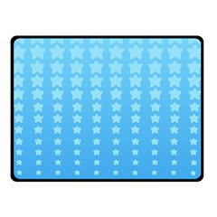 Blue Stars Background Double Sided Fleece Blanket (small)