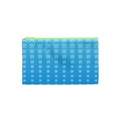 Blue Stars Background Cosmetic Bag (xs)