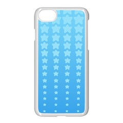 Blue Stars Background Apple Iphone 7 Seamless Case (white)