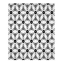 Black White Flower Shower Curtain 60  X 72  (medium)