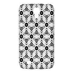 Black White Flower Samsung Galaxy Mega 6 3  I9200 Hardshell Case