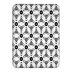 Black White Flower Samsung Galaxy Tab 4 (10 1 ) Hardshell Case  by AnjaniArt