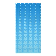 Blue Stars Background Line Shower Curtain 36  X 72  (stall)