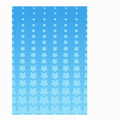 Blue Stars Background Line Small Garden Flag (two Sides)
