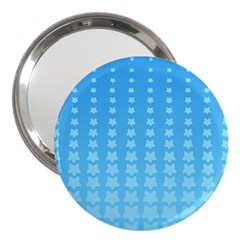 Blue Stars Background Line 3  Handbag Mirrors