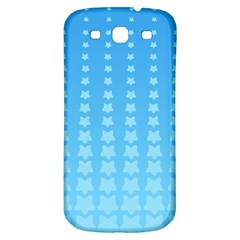 Blue Stars Background Line Samsung Galaxy S3 S Iii Classic Hardshell Back Case