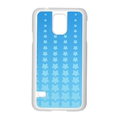 Blue Stars Background Line Samsung Galaxy S5 Case (white) by AnjaniArt