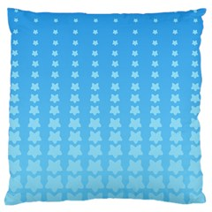 Blue Stars Background Line Standard Flano Cushion Case (two Sides) by AnjaniArt