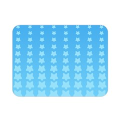 Blue Stars Background Line Double Sided Flano Blanket (mini)