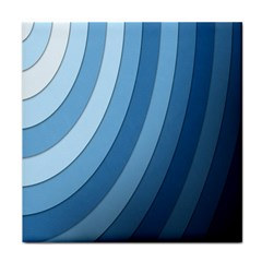 Blue Wave Tile Coasters by AnjaniArt