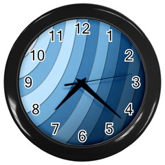 Blue Wave Wall Clocks (black) by AnjaniArt