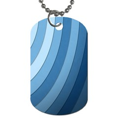 Blue Wave Dog Tag (two Sides) by AnjaniArt