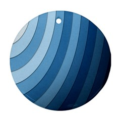 Blue Wave Round Ornament (two Sides)