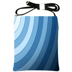 Blue Wave Shoulder Sling Bags by AnjaniArt