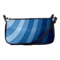 Blue Wave Shoulder Clutch Bags by AnjaniArt