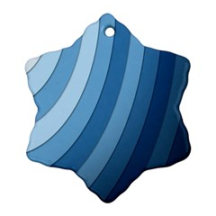 Blue Wave Ornament (snowflake)