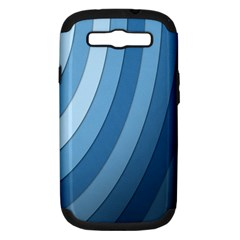 Blue Wave Samsung Galaxy S Iii Hardshell Case (pc+silicone) by AnjaniArt