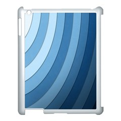 Blue Wave Apple Ipad 3/4 Case (white) by AnjaniArt