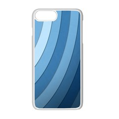 Blue Wave Apple Iphone 7 Plus White Seamless Case