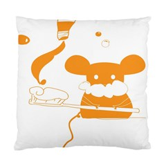 Brushing Teeth Mouse Orange Standard Cushion Case (two Sides) by AnjaniArt