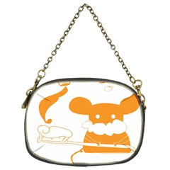 Brushing Teeth Mouse Orange Chain Purses (two Sides)  by AnjaniArt