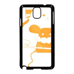 Brushing Teeth Mouse Orange Samsung Galaxy Note 3 Neo Hardshell Case (black) by AnjaniArt