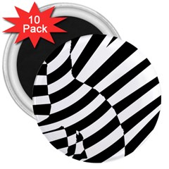 Casino Cat Ready For Scratching Black 3  Magnets (10 Pack)