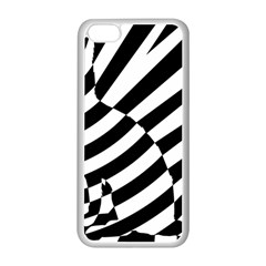 Casino Cat Ready For Scratching Black Apple Iphone 5c Seamless Case (white) by AnjaniArt