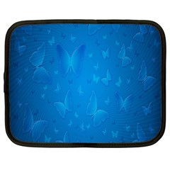 Butterflies Blue Butterfly Netbook Case (large)