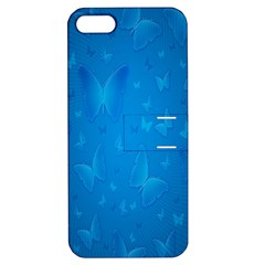 Butterflies Blue Butterfly Apple Iphone 5 Hardshell Case With Stand